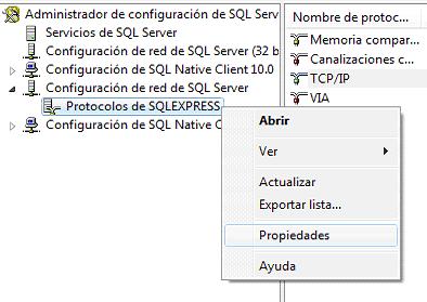 QL Server 2008 R2 protocolos sql
